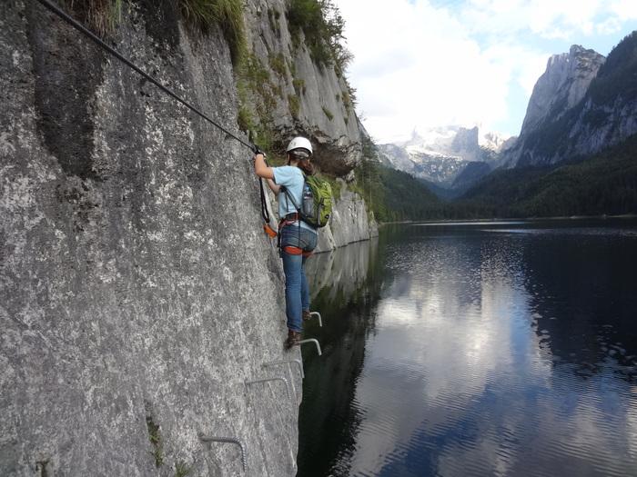 Klettersteig Gosausee : Klettersteige mit kindern in bayern und Österreich laserer alpin