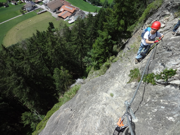 St Jodok Klettersteig : Klettersteig little ballun bergsteigen tips